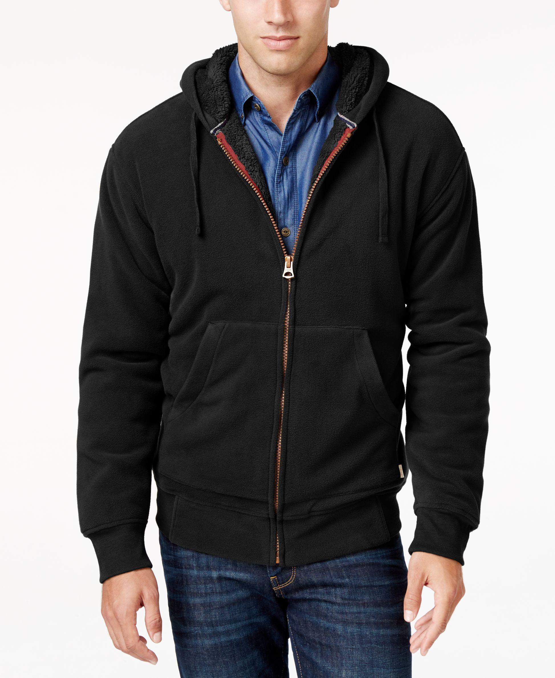 Weatherproof Vintage Men's Faux Sherpa-Lined Hoodie, Classic Fit