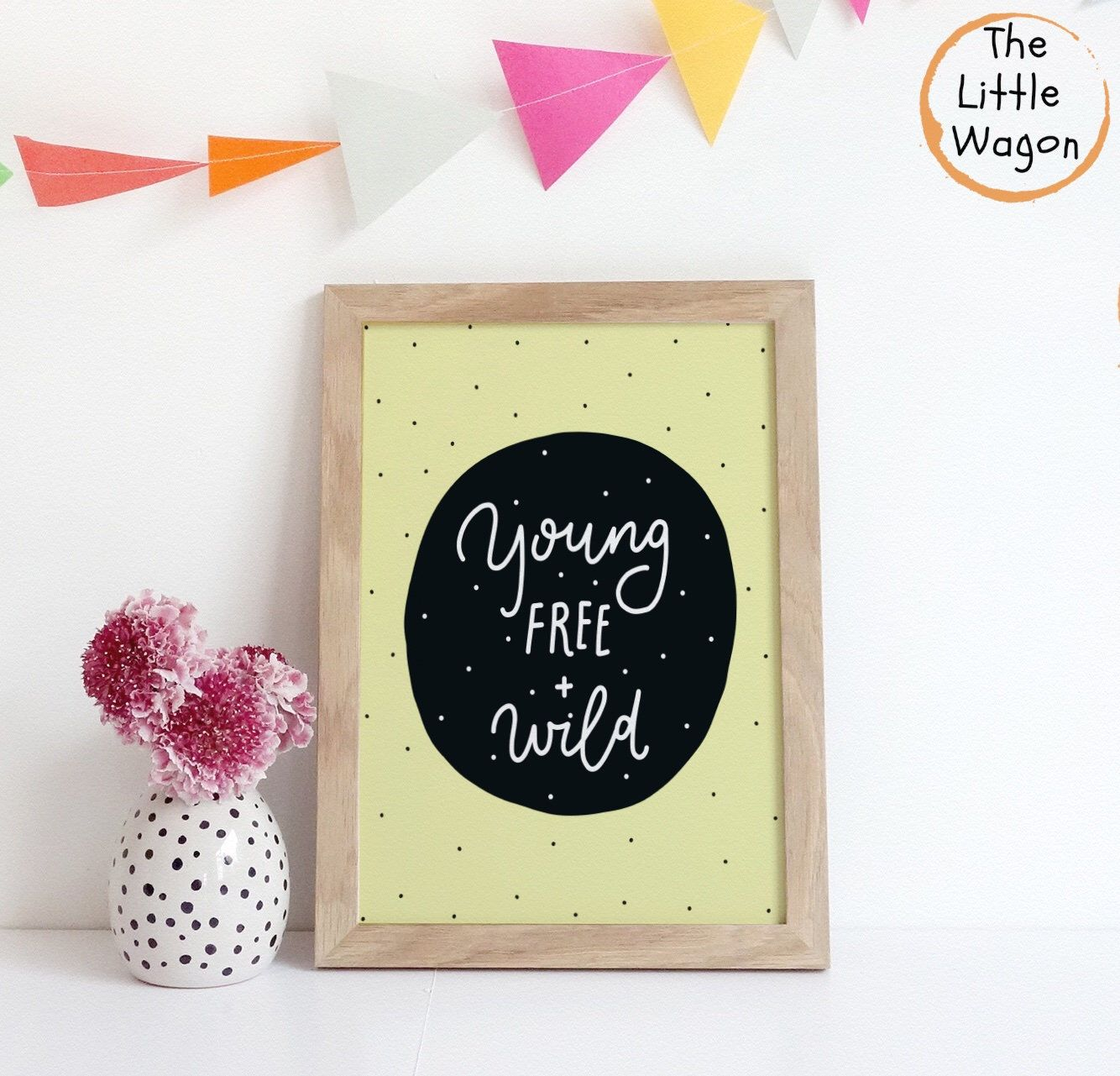 Gender Neutral Nursery Quote Print, Young Free and Wild Wall Art ...