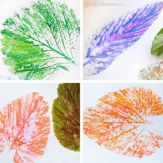 Easy Leaf Printing | Style | KEEN Kids | Fall arts, crafts