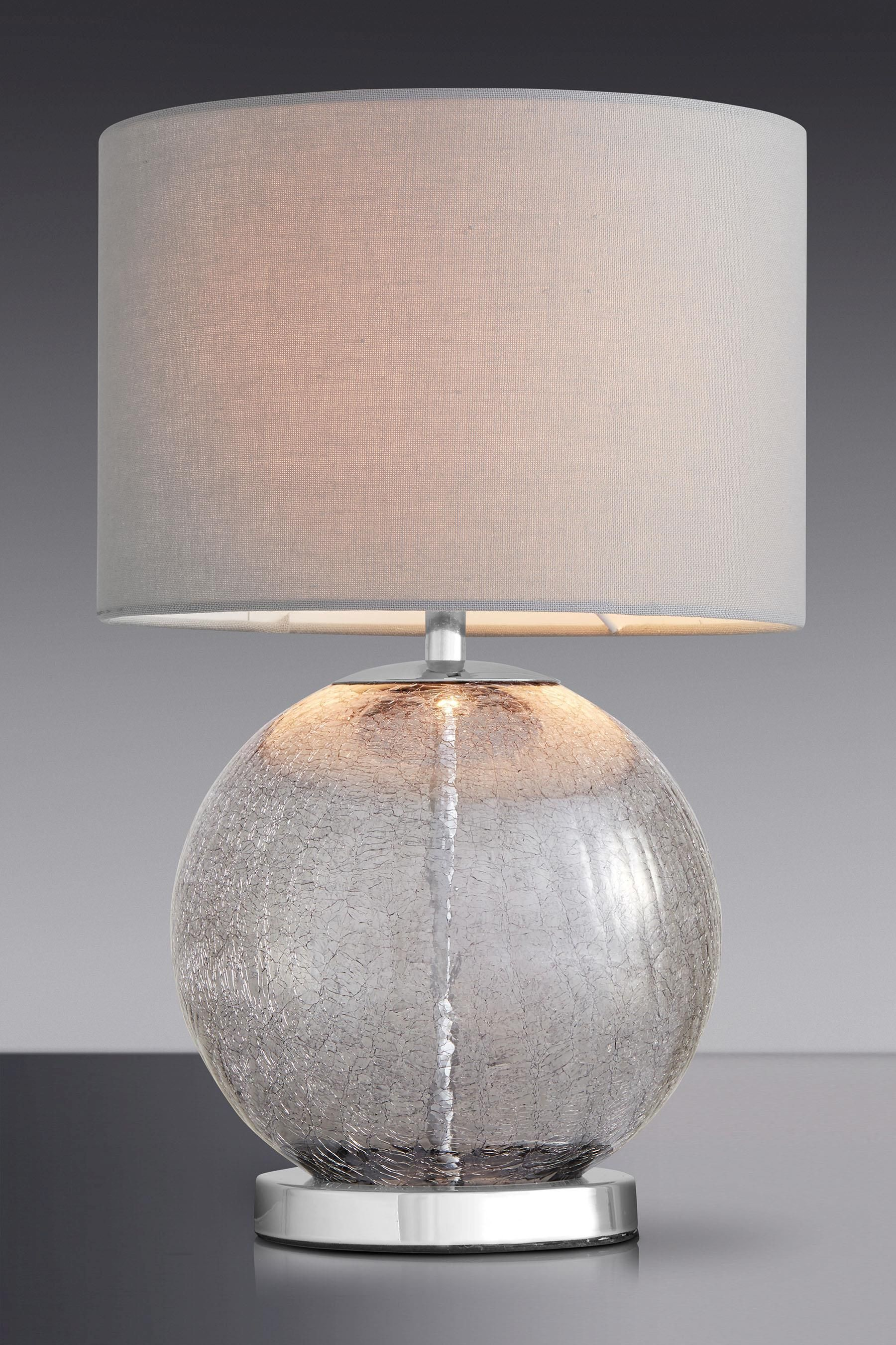 Glass Crackle Lamp Buy Smoke Crackle Glass Table Lamp From The Next Uk Online Shop