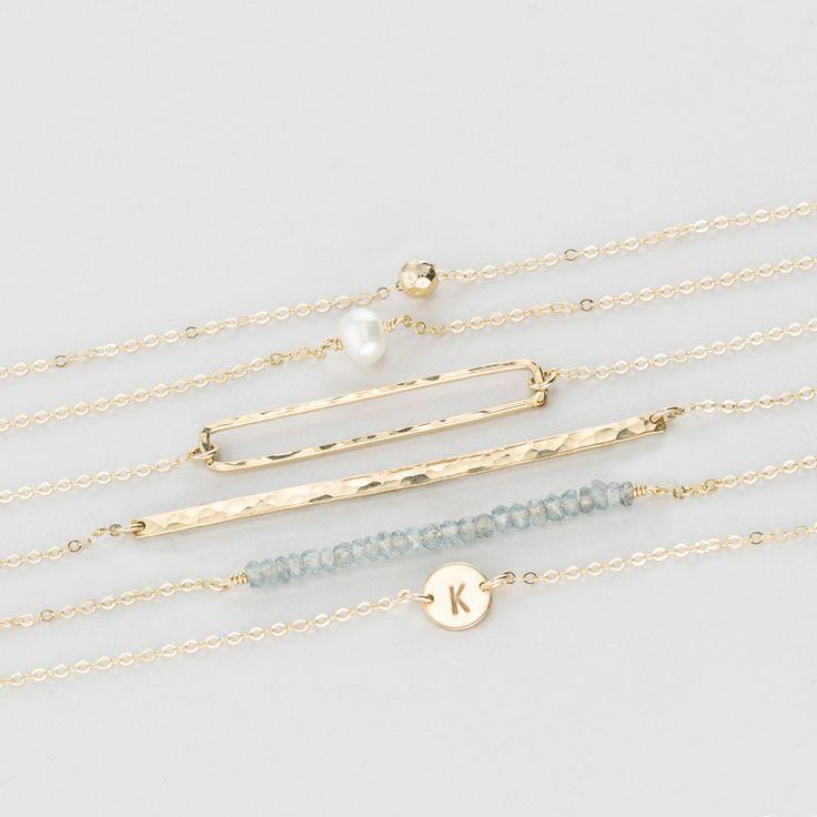 Love Dainty Gold Jewelry!