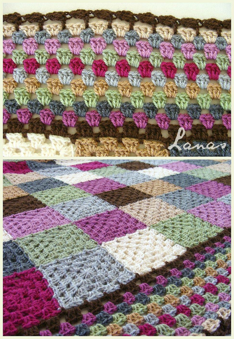 Frazada: Estudio en Cuadros   (Crochet * Stash-Buster)          I finished my first stash-buster blanket of the year…   Completé mi primer...