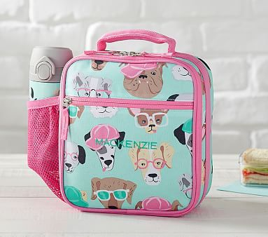 Mackenzie Classic Aqua Cool Dogs Lunch Bag Pbkids
