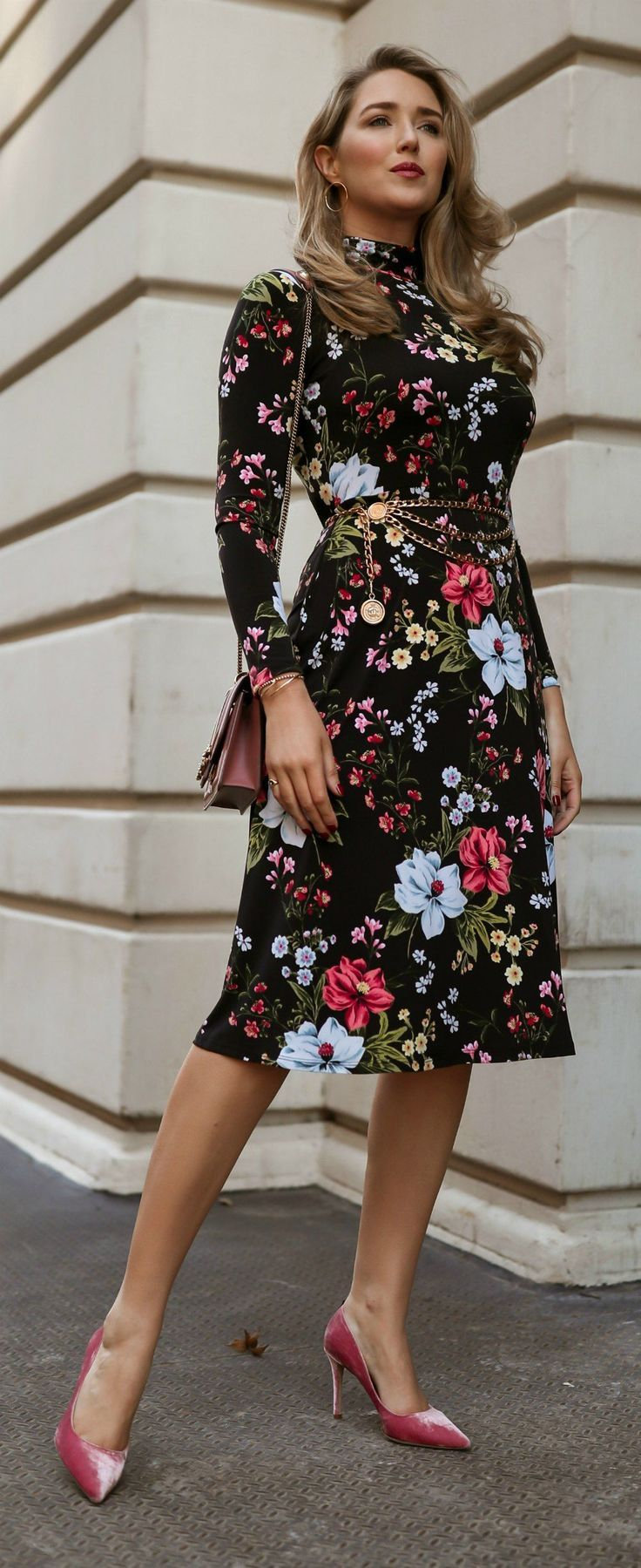 I Know Other Seasons Love To Stake Their Claim On Florals But I Ll Wear All The Blooms I Want Floral Dress Design Floral Dress Black Dresses [ 1799 x 736 Pixel ]