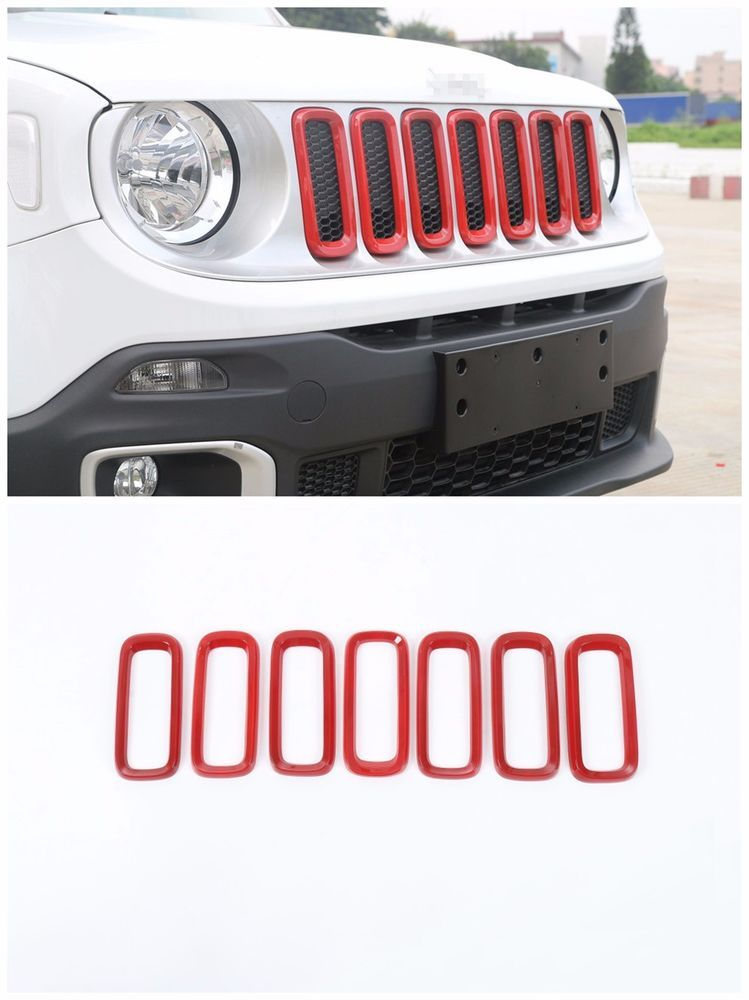7 For Jeep Renegade 2015 2016 2017 Front Grille Cover Insert Grill