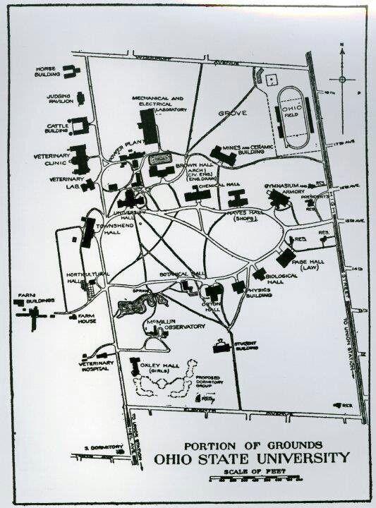 Osu Campus Map 1910 Ohio State Buckeyes Pinterest Ohio State