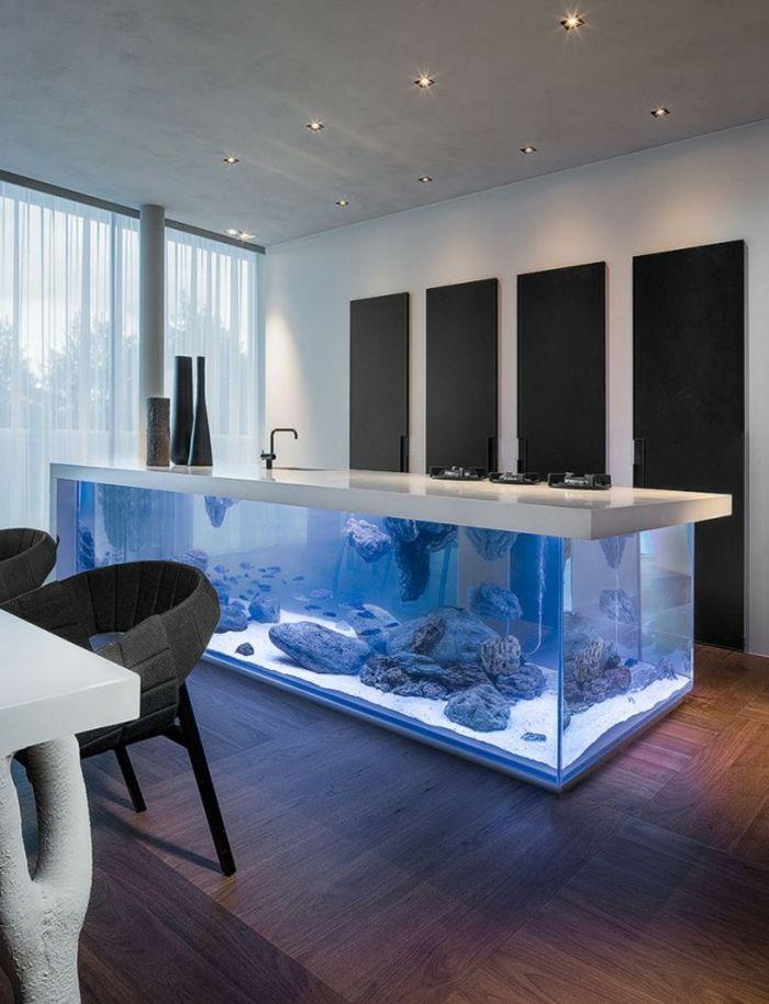 Aquarium Eirichten Design Atmosphäre Einrichtungsbeispiele ... Einrichtungsbeispiele Modern Design