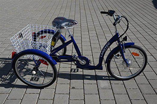 Elektro Dreirad Lanztec Elektro Therapie Dreirad 7 Gang Shimano Nabenschaltung Mit Rucktrittbremse Blau Dreirad Elektro Elektrofahrrad