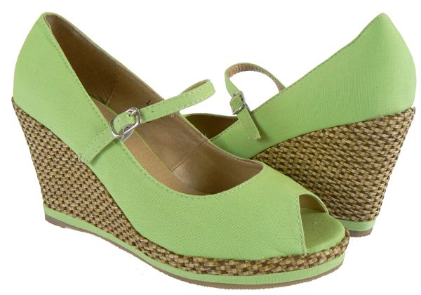green wedge shoes for my favorite green dress
