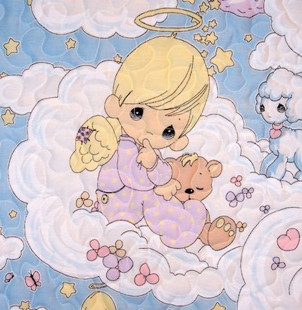 presious monents baby bedding | precious moments angel baby quilt ... : precious moments quilt - Adamdwight.com