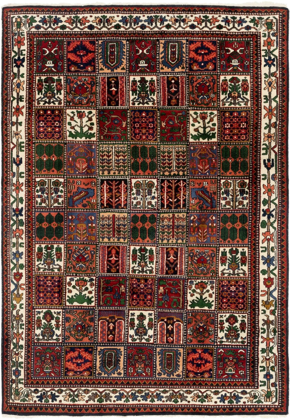 Bakhtiari Red 7x10 Area Rug In 2020 Rugs Rugs On Carpet Area Rugs
