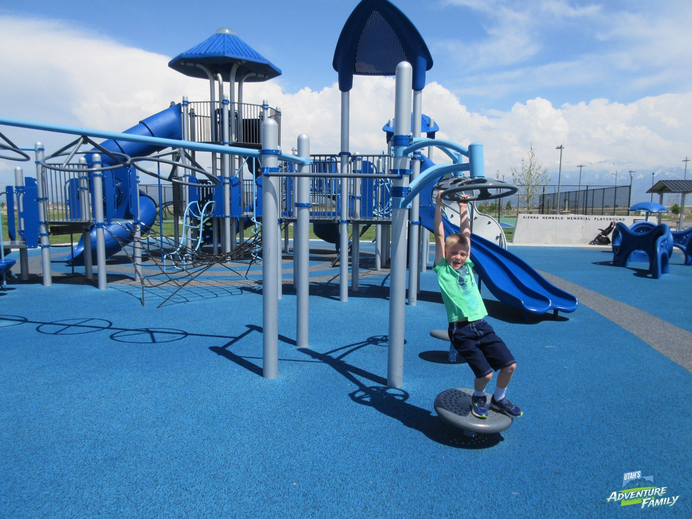 The Sierra Newbold Playground is out west, but it is worth the drive. This playground has lots of fun toys for all ages, and is all accessible.
