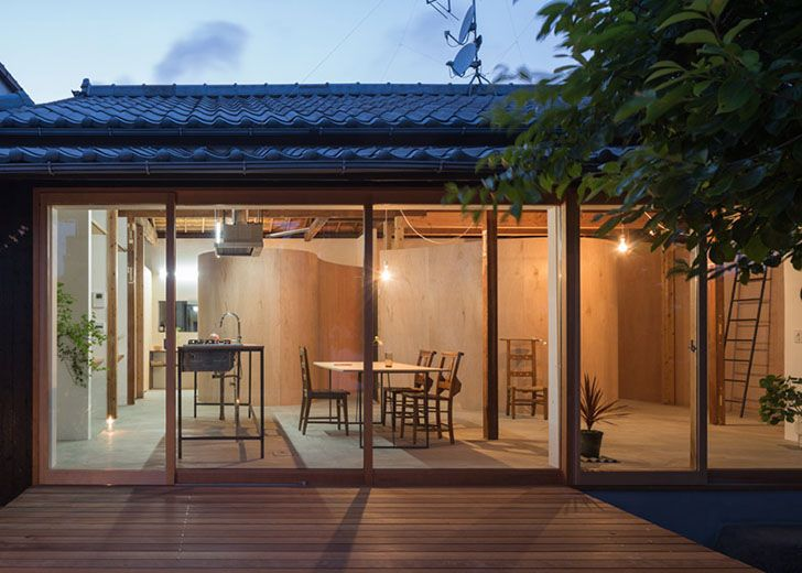 Japanese Home Architecture tato architects turned this congested japanese home into an open