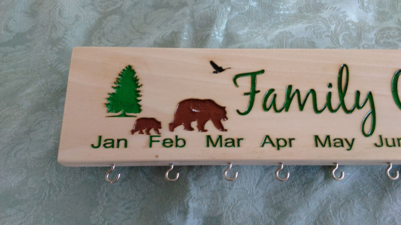 Customized engraved family celebration board family