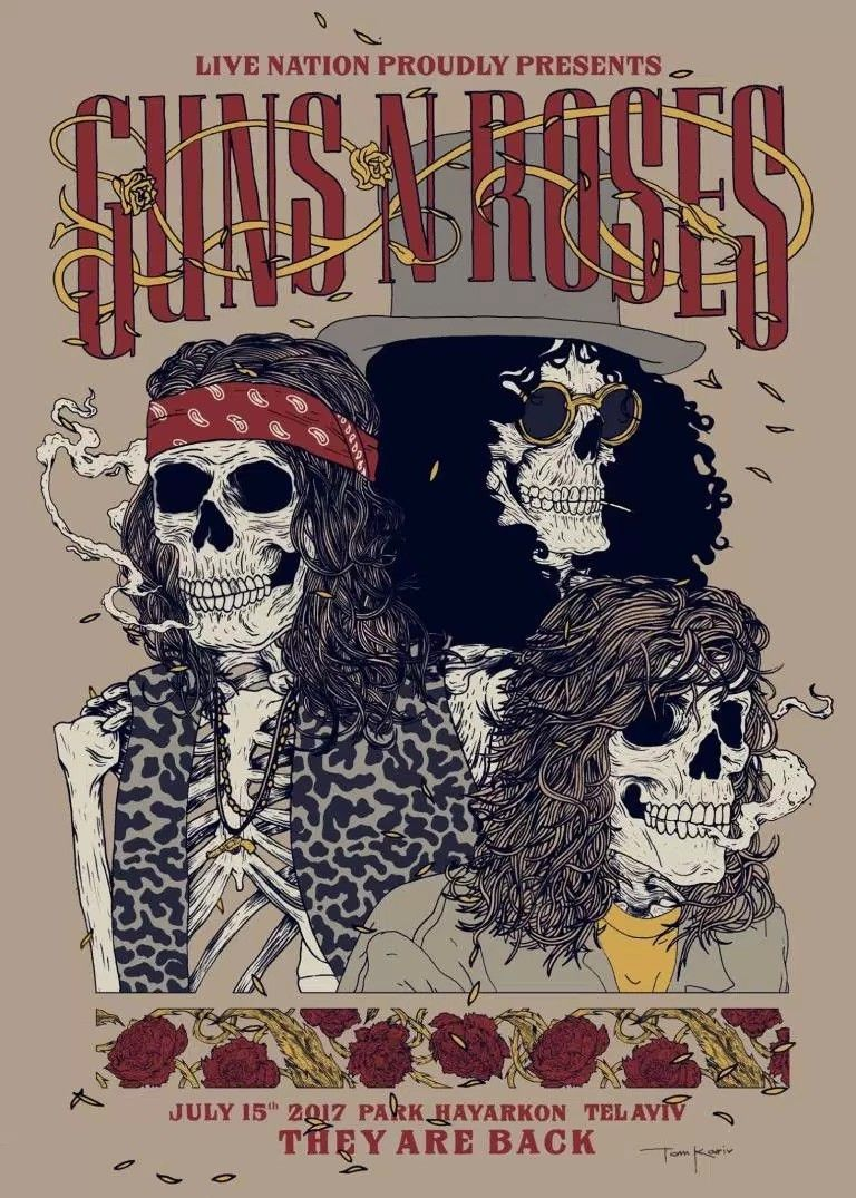 Guns N Roses Tel Aviv Israel 2017 With Images