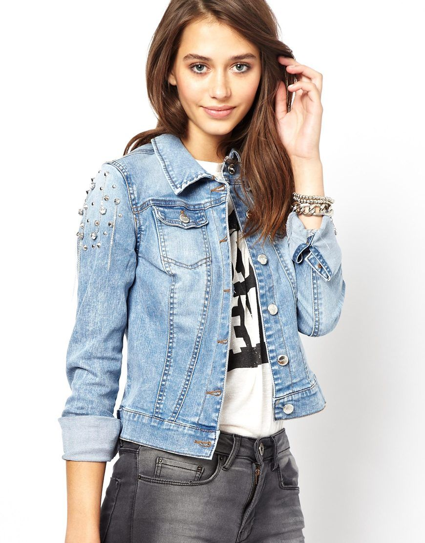 Studded-Denim-Jackets-For-Women- | Denim Jacket | Pinterest ...