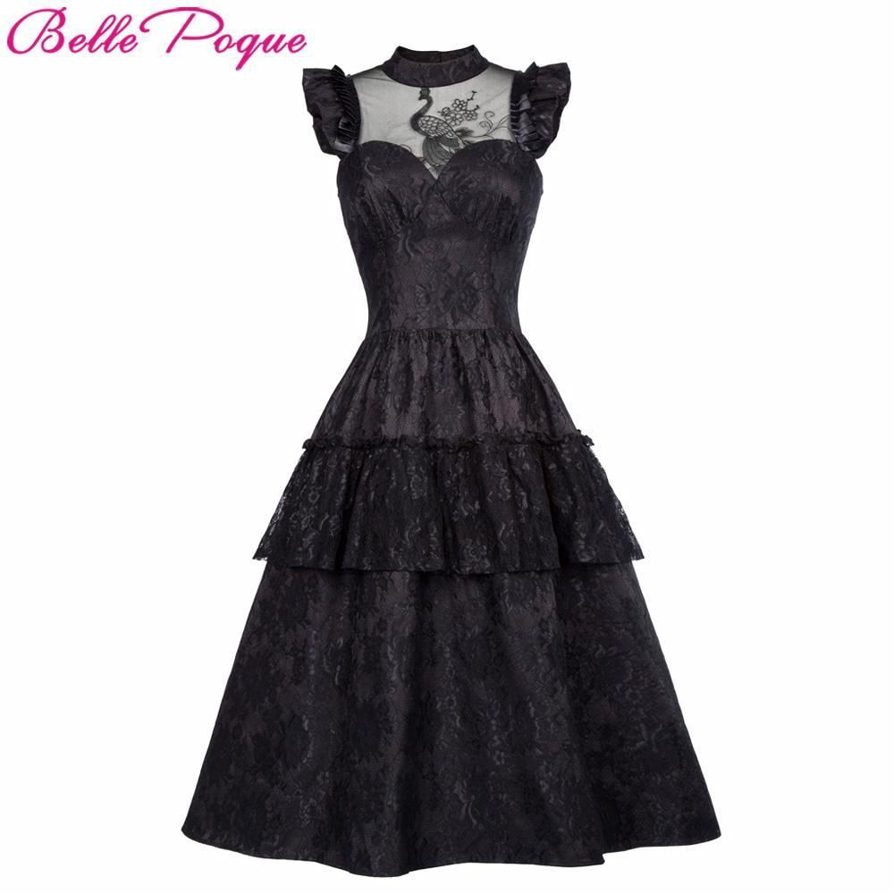 605a656ee9d Retro Black Steampunk Gothic Ruffle High-Neck Vintage Victorian Punk D – Thick  Chick Treasures