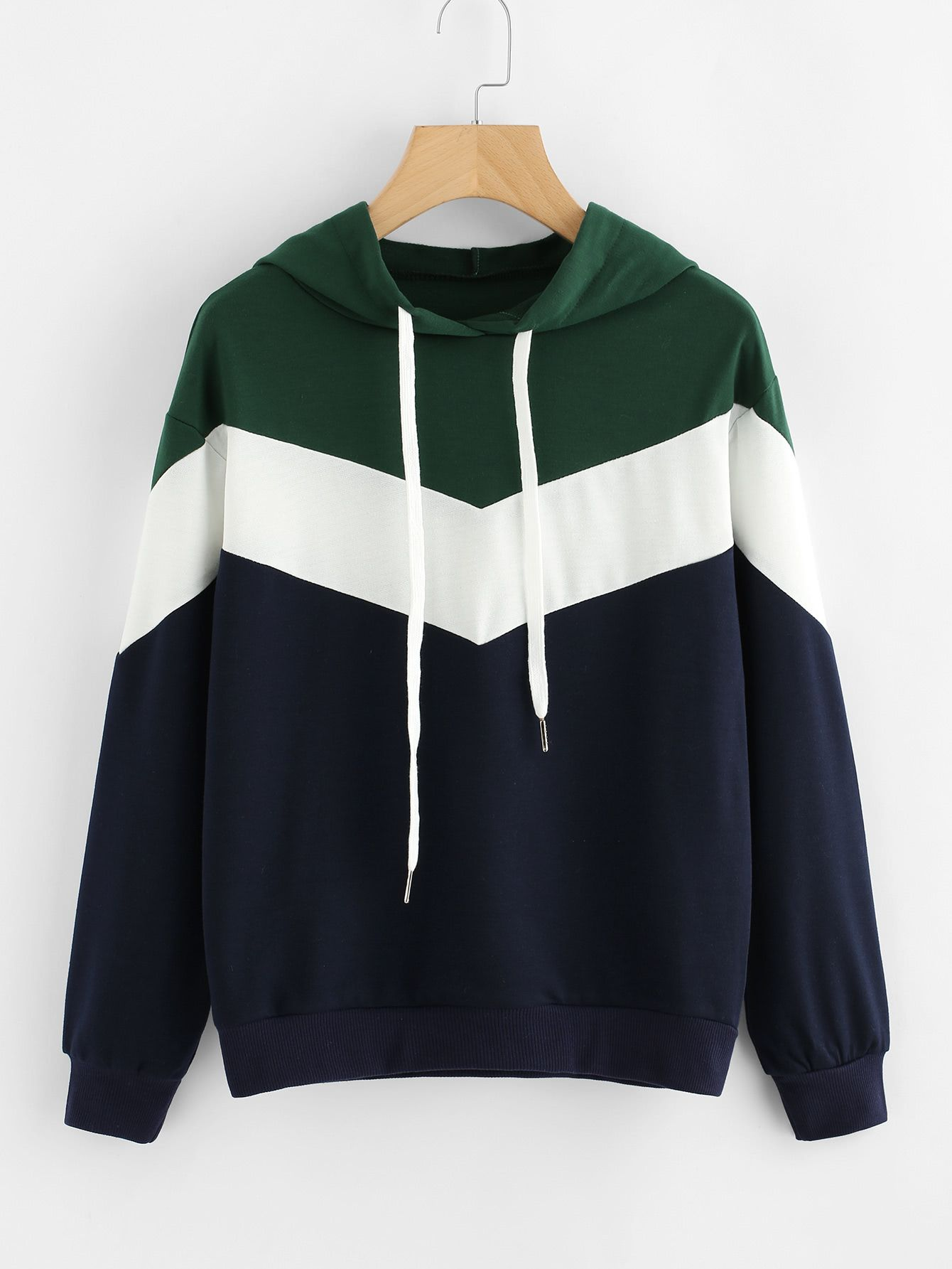 Shop Cut And Sew Color Block Hoodie online. SheIn offers Cut And Sew Color  Block Hoodie & more to fit your fashionable needs.