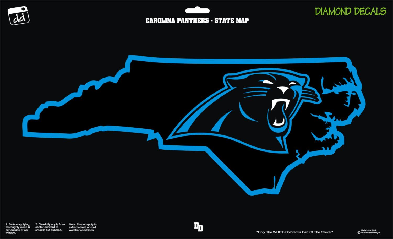 Carolina Panthers Nc Map Nfl Football Team Decal Sticker Car Truck Laptop Suv Window Team Decal Carolina Panthers Nc Map [ 912 x 1500 Pixel ]