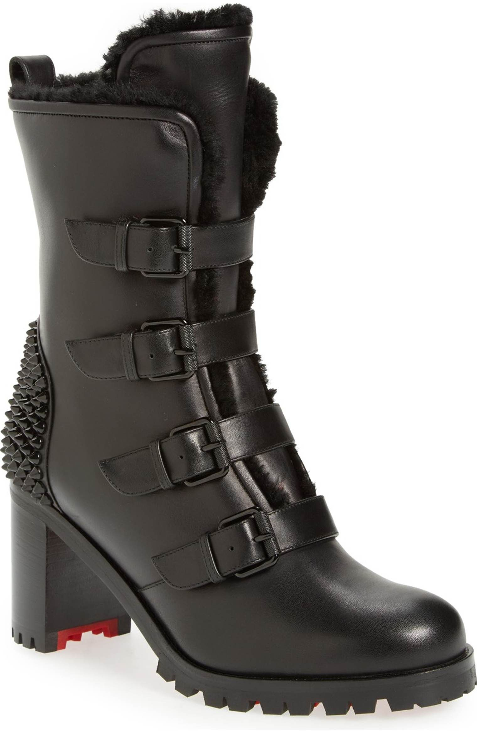 49365e21d38 Main Image - Christian Louboutin 'Glorymount' Studded Buckle Boot ...