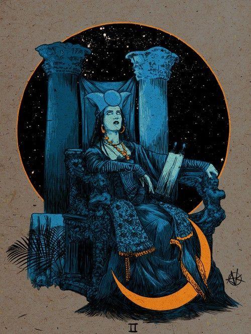 High Priestess - The art of Vance Kelly #Tarot