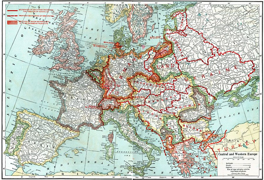 Pre Ww1 Map Europe.Pre And Post Wwi Maps Google Search Maps Map Wwi Europe