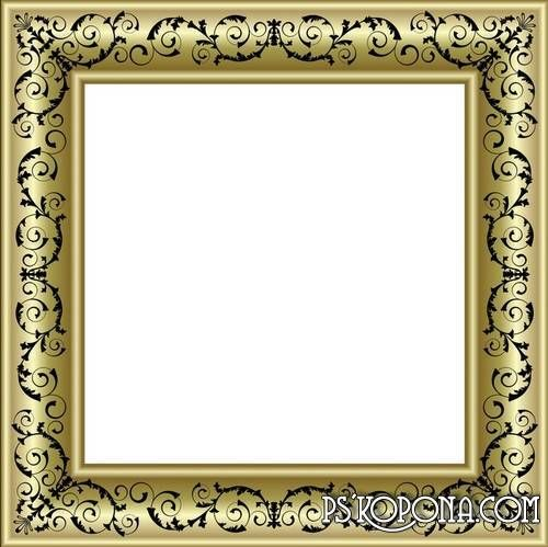 Pin By Shruti Padia On Frame Gold Photo Frames Frame Clipart Frame