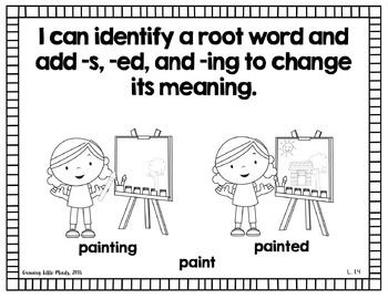 Visual 'I Can' Statements for the 1st Grade ELA Common