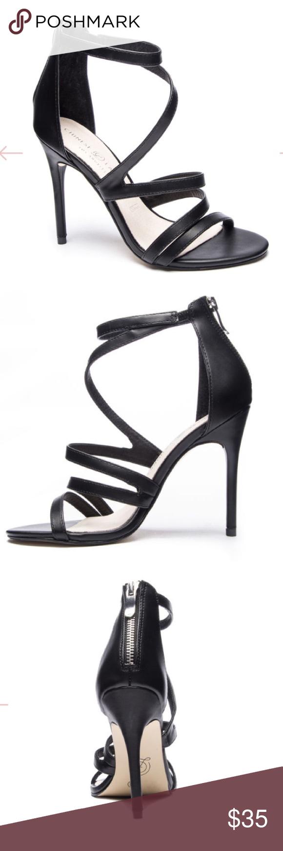 Chinese Laundry Black Strappy Heels Chic Strappy Stiletto Black
