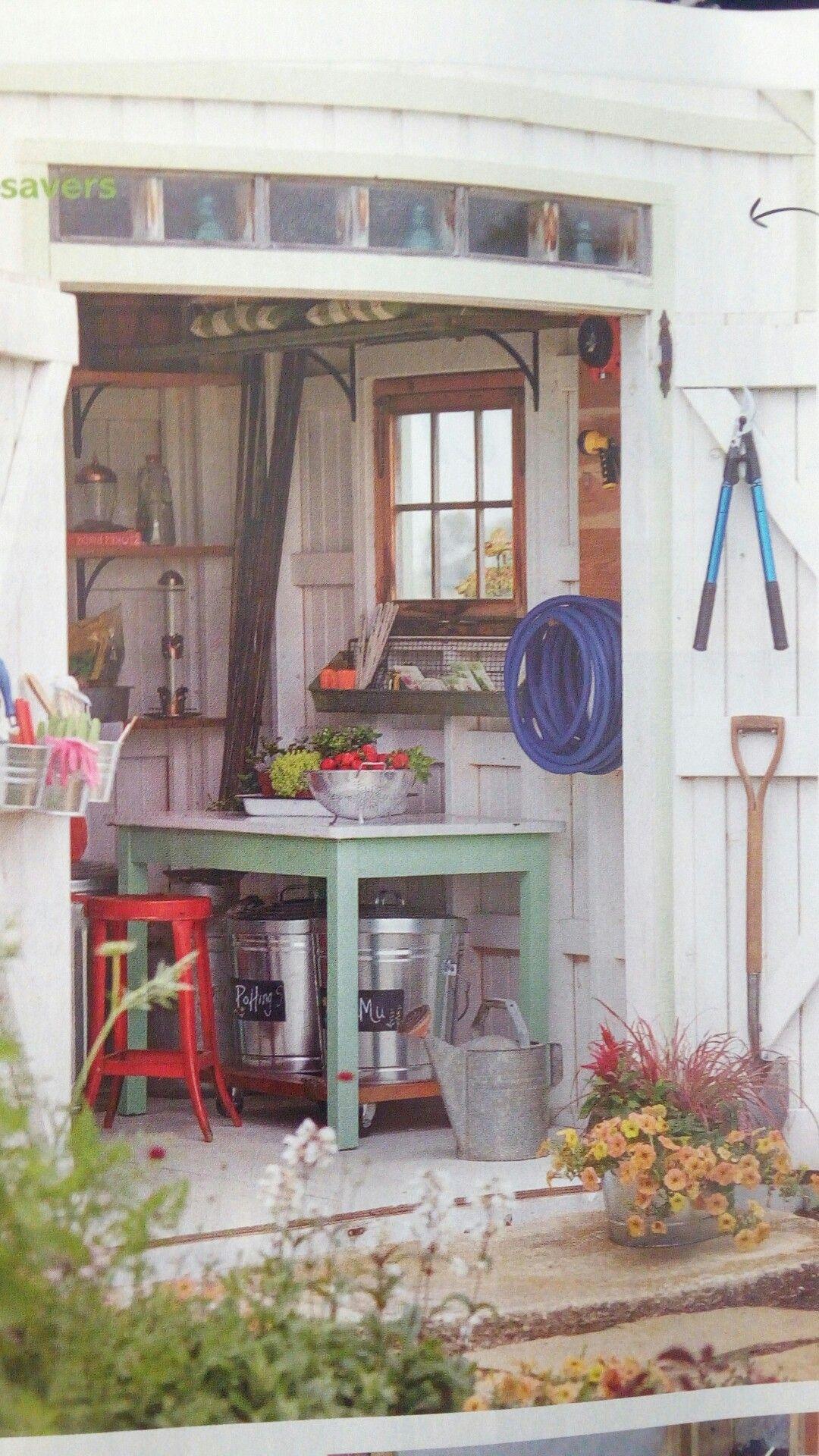 Cute garden shed Garden shed, Spring green, Green garden