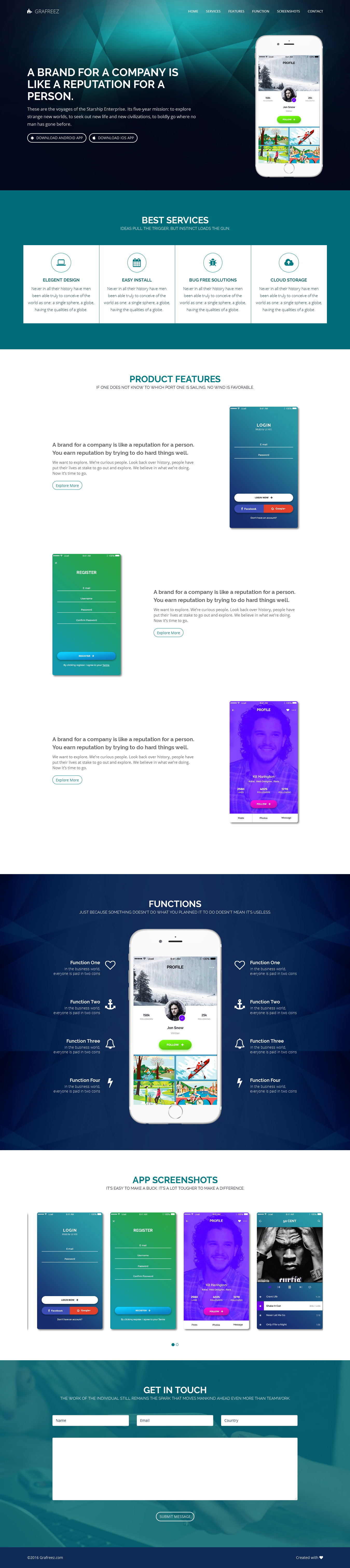 Light is a free html template, specifically designed for app ...