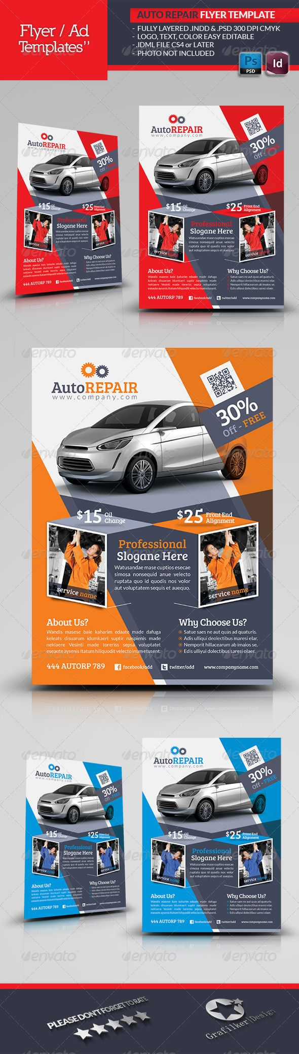 automobile repair flyer template flyer template vector format automobile repair flyer template