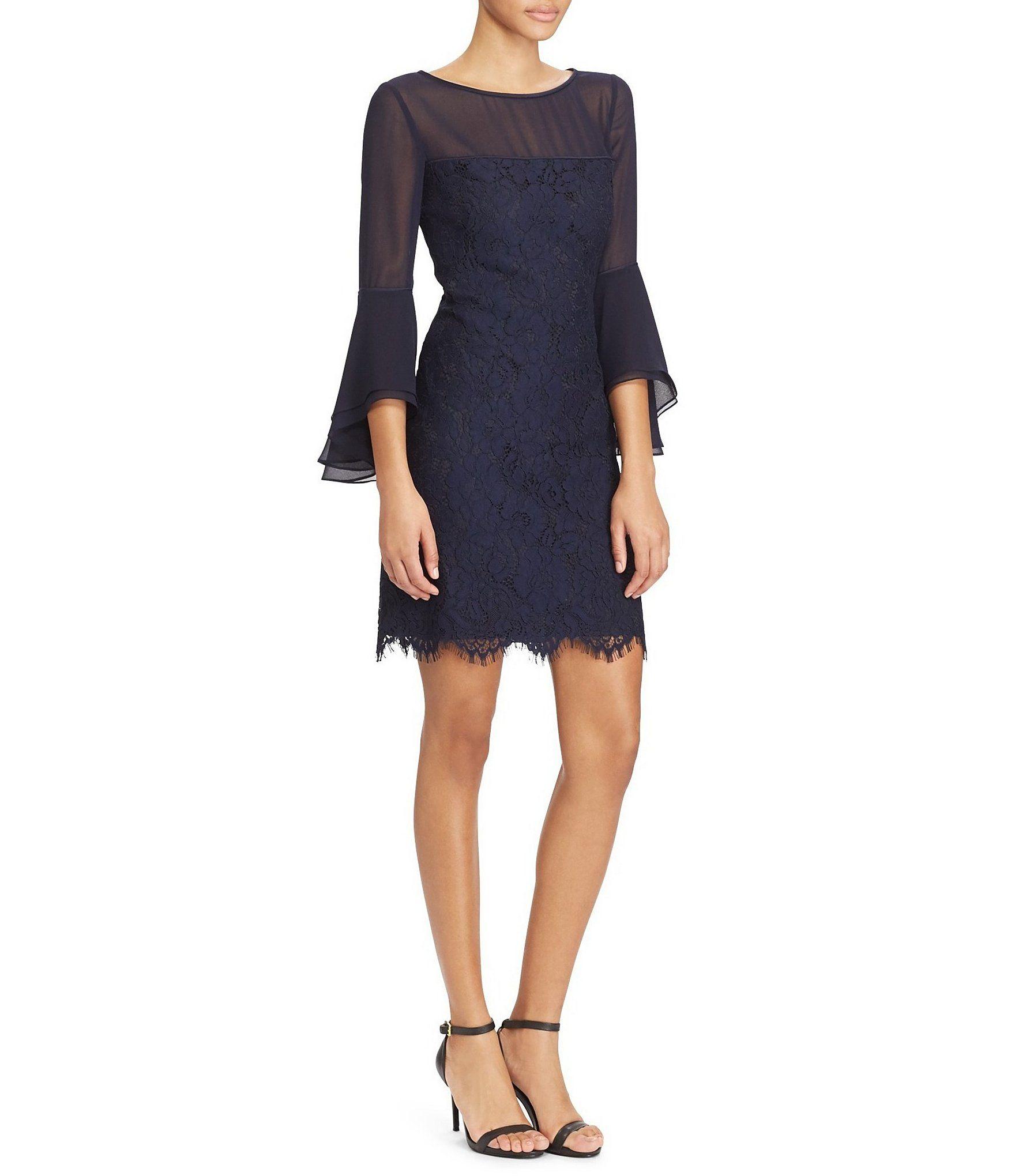 Lauren Ralph Lauren Lace Bell Sleeve Dress #Dillards
