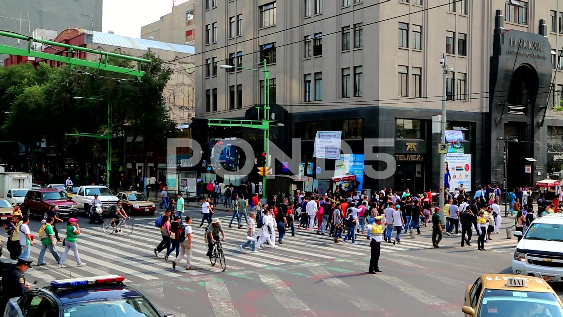 Mexico City Downtown People And High Rise Stock Footage Downtown People Mexico City Mexico City Downtown Mexico