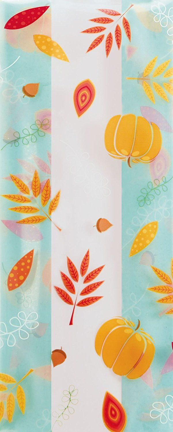 Holiday Cello Bags Blissful Fall Cello Bags 4 X 2 1 2 X 9 1 2