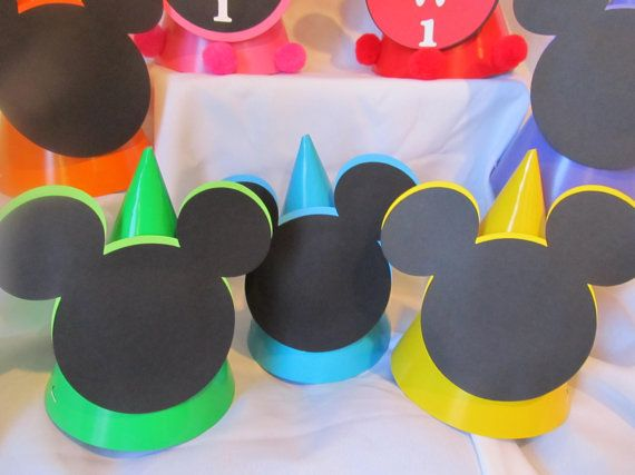 Mickey Mouse Clubhouse Birthday Party Hats By Dreamcometrueparties Mickey Mouse Clubhouse Birthday Mickey Mouse Clubhouse Birthday Party Mickey Birthday Party
