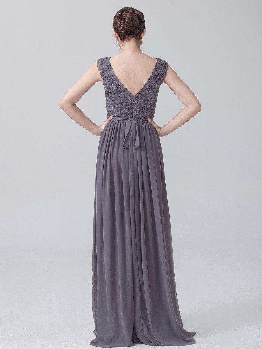 Bonito Carbón Vestidos De Dama Gris Colección de Imágenes - Vestido ...
