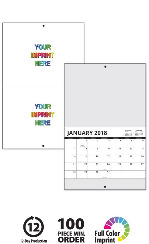 2018 13 Month Custom Photo Wall Calendar Stapled 11 X 17 85