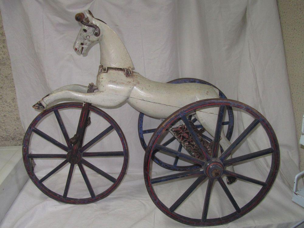 jouet ancien cheval tricycle bois et metal toys pinterest jouets anciens ancien et. Black Bedroom Furniture Sets. Home Design Ideas
