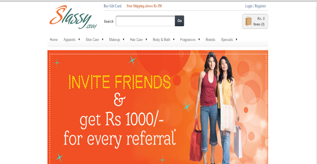 HelloBeauties,  Happy Sunday To all Beauties, today I am going to share my shopping experience with Slassy.com. I have came across this online store so many time, but those times I didnt feel like to shop. I love Flipkart and Urban touch more to shop, sadly urbantouch has got closed. I have heard