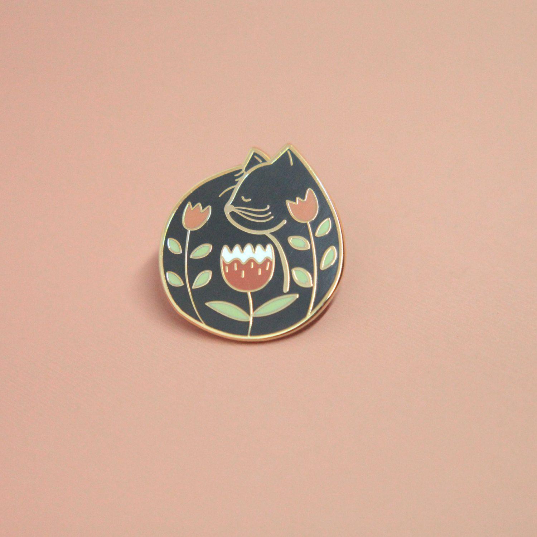 Cat Nap Enamel Pin | Hard Enamel, Lapel Pin, Flair, Brooch
