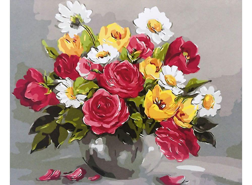 Картина по номерам «Весенние цветы» | Окрашенные стены ...