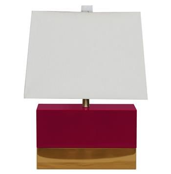 Titan Hollywood Regency Rectangular Maroon Gold Table Lamp Gold Table Lamp Rectangular Table Lamp Table Lamp