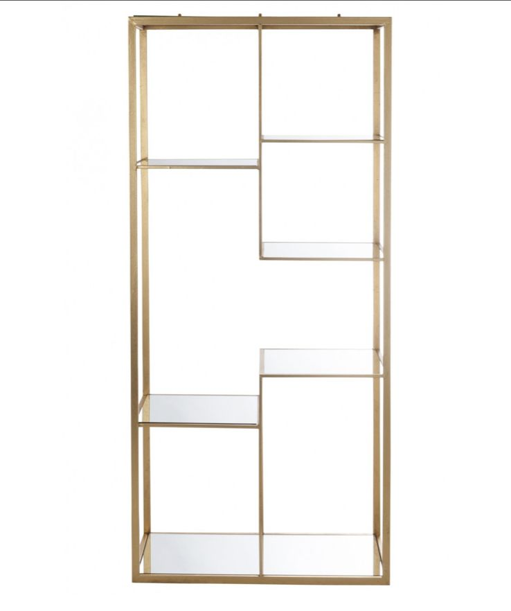 Etagere 5 Planches Metal Verre Or Design Decoration Decoration Interieure Boutique Etagere Etagere Metal