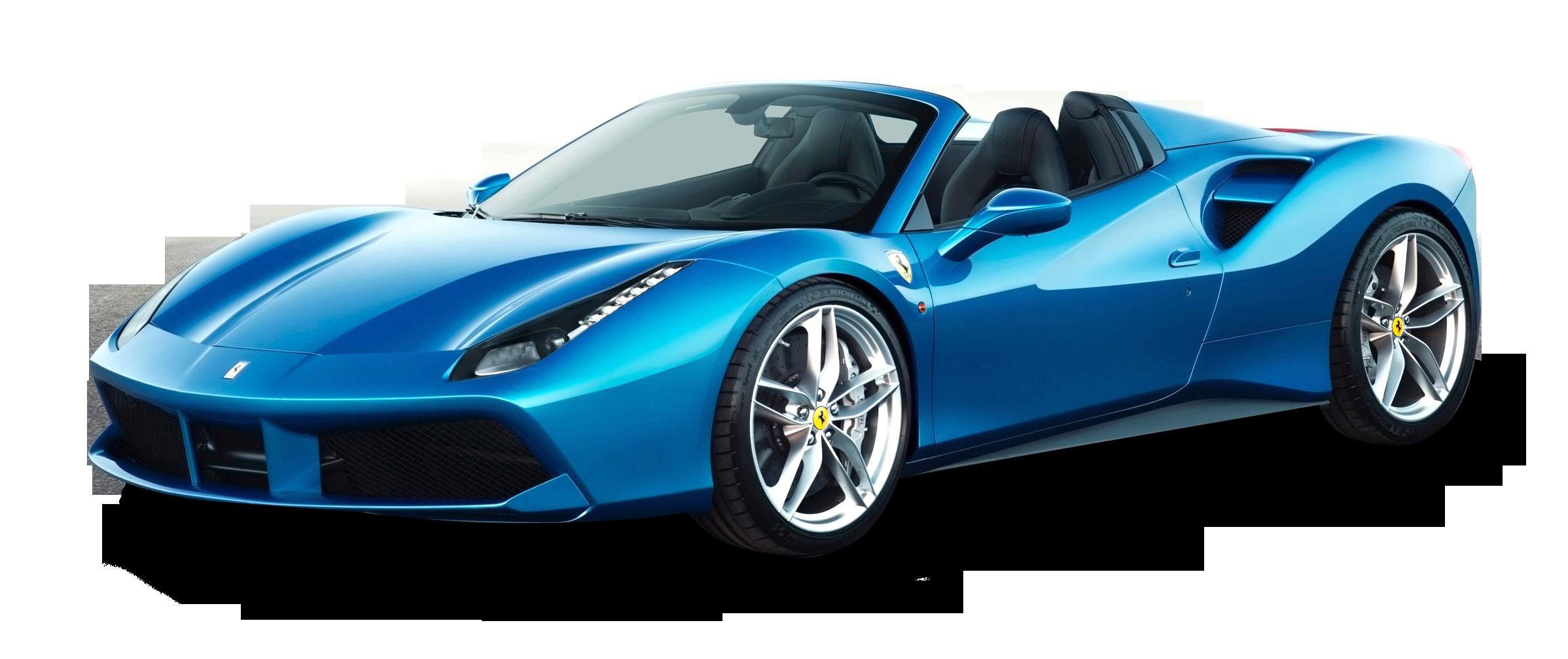Blue Ferrari 488 Spider Car Png Image Ferrari Car Ferrari Ferrari 488