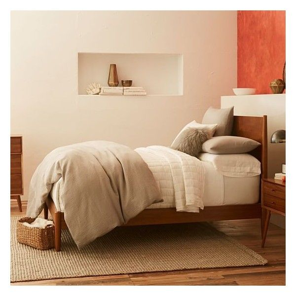 West Elm Mid Century Bed Frame Twin Acorn 799 Liked On