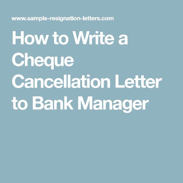 cheque cancellation letter
