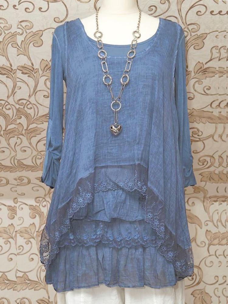 c0526874a69 STUNNING BLUE 2PIECE TUNIC DRESS QUIRKY ITALIAN LAGENLOOK/LAYERING TOP