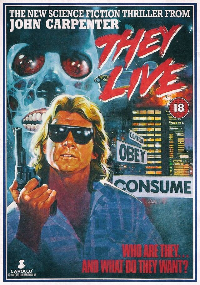 They Live Roddy Piper Movie Poster 24inx36in