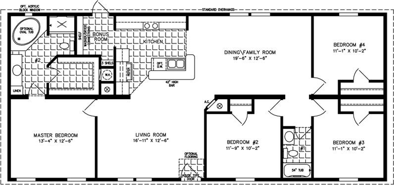 1600 sq ft 4 bedrooms. A good use of space. Manufactured